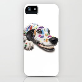 Spotted dog#3 iPhone Case
