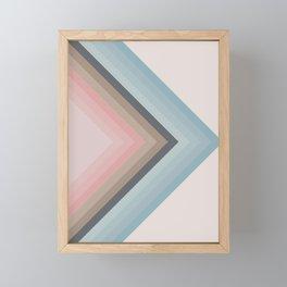 Pastel Pyramids Framed Mini Art Print