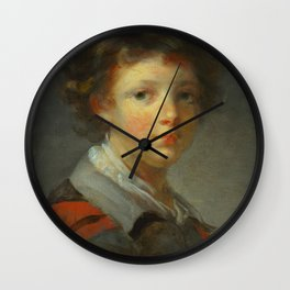 "Jean-Honoré Fragonard ""A Boy in a Red-lined Cloak"" Wall Clock"