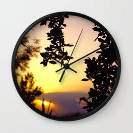 Kenya / Kitui Sunset Wall Clock