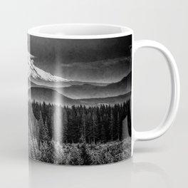 Mt Hood Black and White Mountain Coffee Mug