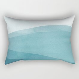 Watercolor Sea | Dip Dye Blues Rectangular Pillow