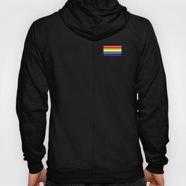 Gay Pride LGBT Rainbow Stripe Flag 2018 Awareness Hoody