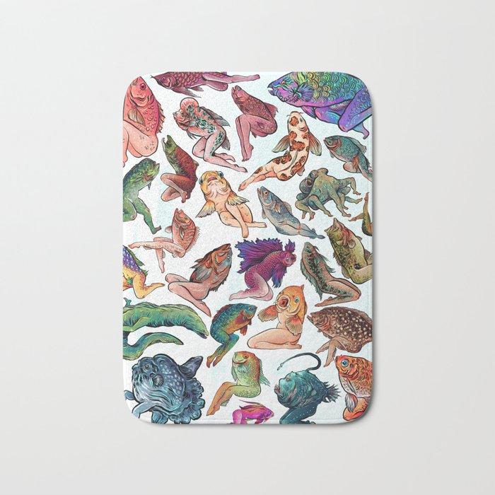 Reverse Mermaids Bath Mat