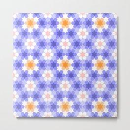 Stars and hexagons Metal Print