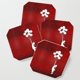 Banksy the balloons Girls silhouette Coaster
