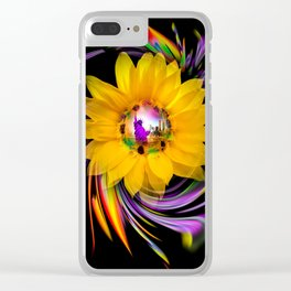 Sunflower - Statue of Liberty Clear iPhone Case