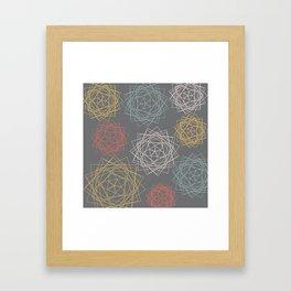 Dark Pastel Origami Blooms Framed Art Print