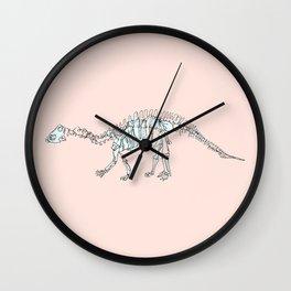 Pastel Brontosaurus Wall Clock