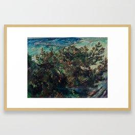LOVIS CORINTH (Tapes 1858-1925 Zandvoort) Coast at Nienhagen. 1917th Framed Art Print