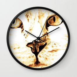 Cat with an attitude Wall Clock