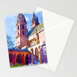 Minster Gardens - Basel, Switzerland Stationery Cards