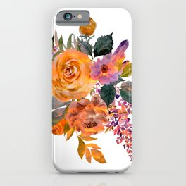 Watercolor Floral Poppies iPhone Case