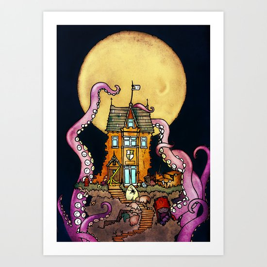 The Midnight Chateau Art Print