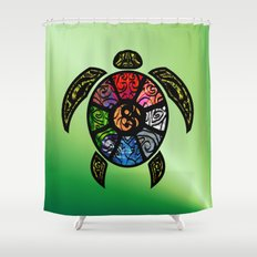 Bagua Turtle Shower Curtain