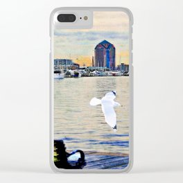 Canton skyline from Bond Street Clear iPhone Case