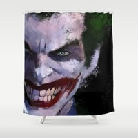 joker Shower Curtains featuring Joker by Scofield Designs