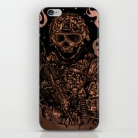 military iPhone & iPod Skins featuring Military skull by barmalisiRTB