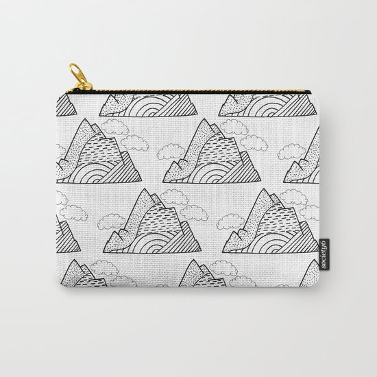 The small clouds and the mountains pattern Carry-All Pouch