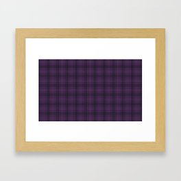 Purple buffalo plaid Framed Art Print