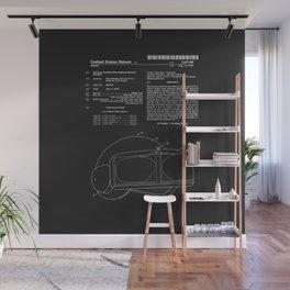 Virtual Reality Helmet Patent - Black Wall Mural