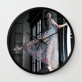 Column Dancer Wall Clock