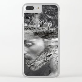 Sea man Clear iPhone Case