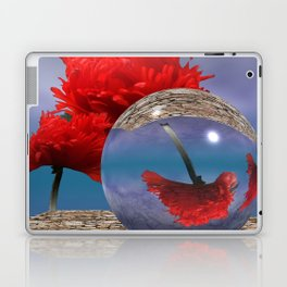 poppy and crystal ball - refraction of light Laptop & iPad Skin