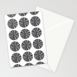 Parasols in Black and White Stationery Cards