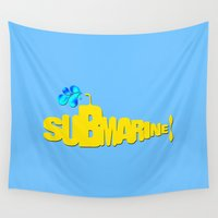 submarine Wall Tapestries featuring Yellow Submarine by Tali Rachelle