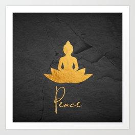 Gold Buddha 3 Art Print