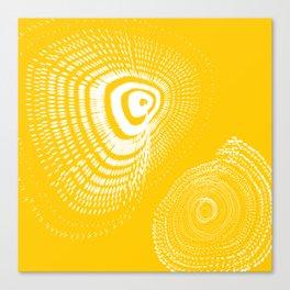 White spirals Canvas Print