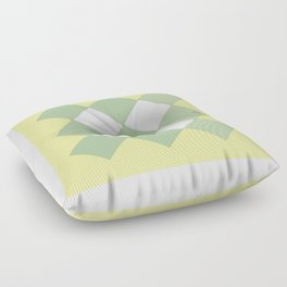 """Geometric Print """"Quilted"""" Floor Pillow"""