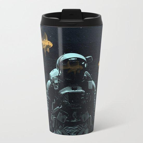 Space goldfish Metal Travel Mug