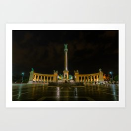 Heroes Square - Budapest, Hungary Art Print