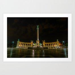 Heroes Square - Budapest, Hungary Art Print