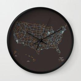 US Highways Wall Clock