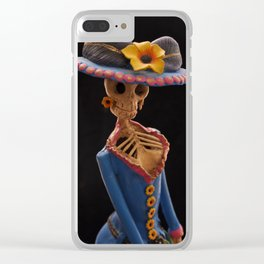 Day of the Dead (Catrina) Clear iPhone Case