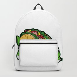 TURTILLA Tortilla Turtle Mexican Fast Food Gift Backpack