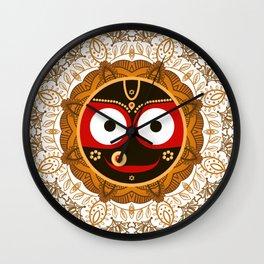 Jagannath. Indian God of the Universe. Lord Jagannatha. Wall Clock