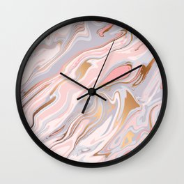 Marble and Gold 005 Wall Clock