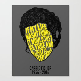 Carrie Obituary Silhouette Canvas Print