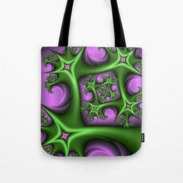 Fractal Art Fantasy Pink Gren Tote Bag