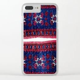 Yagcibedir Heybe Bergama Northwest Anatolian Saddle Bag Print Clear iPhone Case