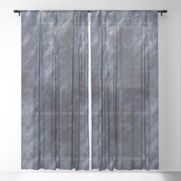 Blue Clouds, Blue Moon Sheer Curtain