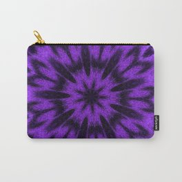 Spotted Leopard Purple Mandala Kaleidoscope Carry-All Pouch