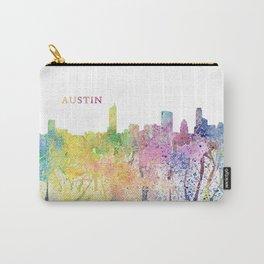 Austin Texas Skyline Impressionistic Splash Carry-All Pouch