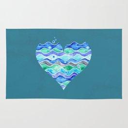 A Sea of Love (blue) Rug