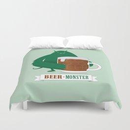 Beer Monster Duvet Cover