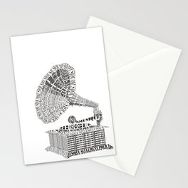 Music just for you Stationery Cards